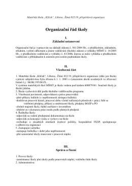 Organizační řád školy