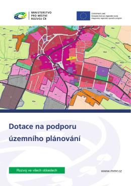 Dotace na podporu územního plánování