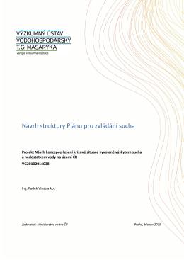 Návrh struktury Plánu pro zvládání sucha