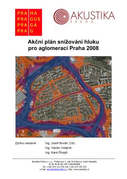 Akční plán snižování hluku pro aglomeraci Praha 2008