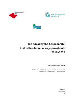 Plán odpadového hospodářství Královéhradeckého kraje pro