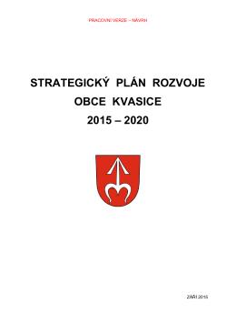 strategický plán rozvoje obce kvasice 2015 – 2020