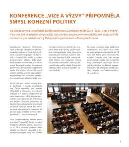 """konference """"vize a výzvy"""" připomněla smysl kohezní politiky"""