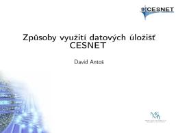 Způsoby využití datových úložišť CESNET