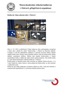Kniha do vlaku - Moravskoslezská vědecká knihovna v Ostravě