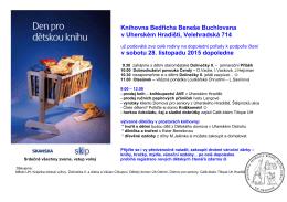 Den pro dětskou knihu - Knihovna Bedřicha Beneše Buchlovana