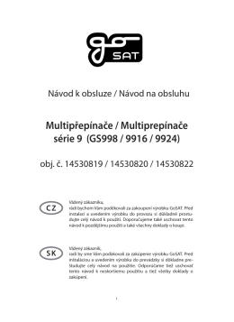 Multipřepínače / Multiprepínače série 9 (GS998 / 9916 / 9924)
