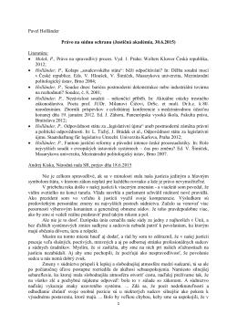 Pavel Holländer Právo na súdnu ochranu (Justičná akadémia, 30.6