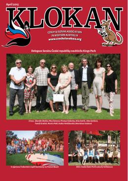April 2015 - Česká a slovenská asociace v Západní Austrálii