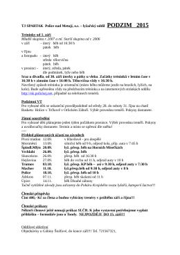 Podzim 2015 - Lyžařský oddíl