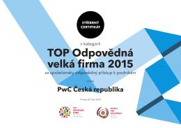 TOP Odpovědná velká firma 2015