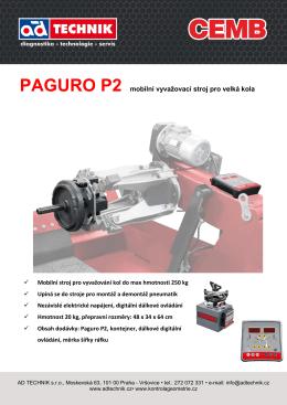 PAGURO P2 mobilní vyvažovací stroj pro velká kola
