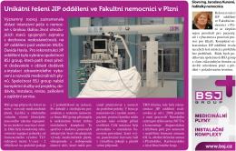 Unikátní řešení JIP oddělení ve Fakultní nemocnici v