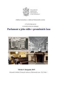 Oddělení komunikace a vzdělávání Parlamentního institutu