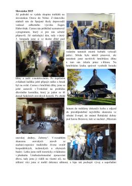 Mezinárodní spolupráce Střední školy Oselce a Spojené školy Nižná