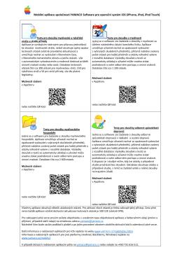 Produktový leták aplikací pro iOS ke stažení