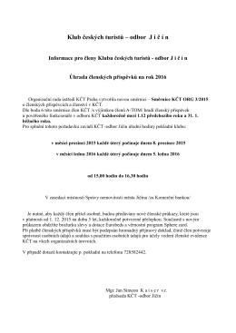 Uřední hodiny pokladní prosinec 2015 - leden 2016
