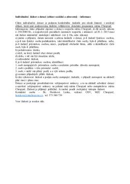 Individuální žádost o dotaci (oblast sociální a zdravotní)