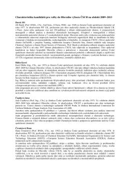 Charakteristika kandidátů pro volby do Hlavního výboru ČSCH na