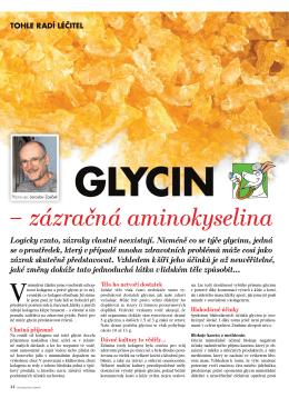 Glycin - zázračná aminokyselina - Zdraví-AZ