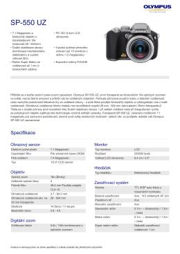 SP‑550 UZ, Olympus, Compact Cameras