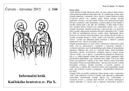 Červen – červenec 2015 č. 144 Informační leták