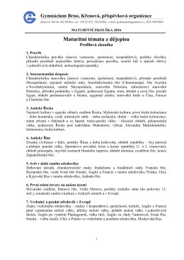 Dějepis 2016 - Gymnázium, Brno, Křenová 36