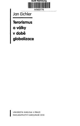 Jan Eichler Terorismus a války v době globalizace