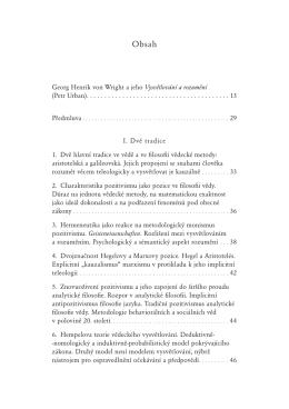 Georg Henrik von Wright a jeho Vysvětlování a rozumění