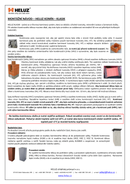 Montážní návod komínového systému KLASIK