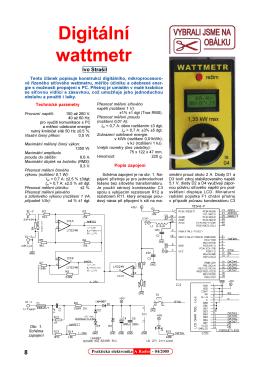 Digitální wattmetr