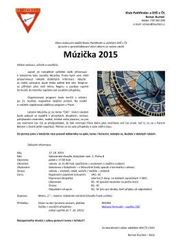 Múzička 2015 - Klub Pathfinder