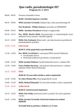 program setkání iii. ročník