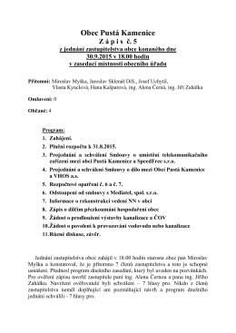 Zápis ze zastupitelstva č. 5/2015
