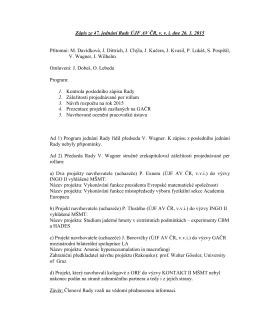 Zápis z 47. jednání Rady dne 26.3.2015