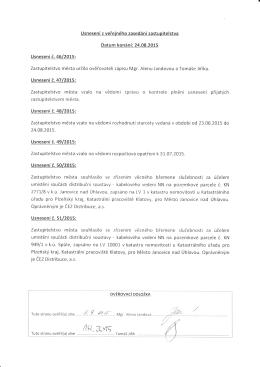 Usnesení č. 05/2015 - Janovice nad Úhlavou