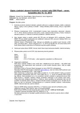 jednání prosinec - OSH Plzeň