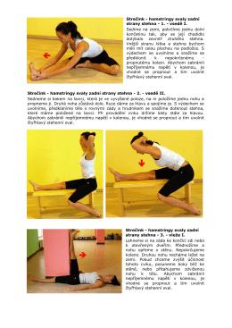Strečink - hamstringy svaly zadní strany stehna - 1.