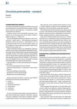 Chronická pankreatitida – standard Stáhnout