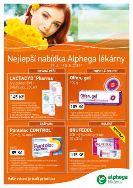 Nejlepší nabídka Alphega lékárny