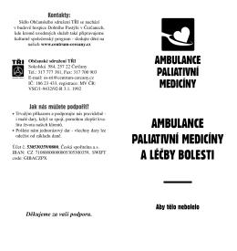 ambulance paliativní medicíny a léčby bolesti