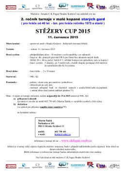 stěžery cup 2015