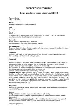 Informace - DDM Praha 9