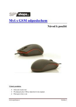 Myš s GSM odposlechem
