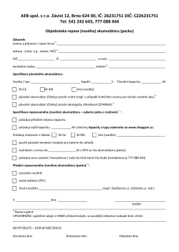 Objednávkový formulář ke stažení ZDE
