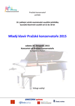 Mladý klavír Pražské konzervatoře 2015