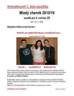 Mladý chemik 2015/16