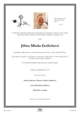Jiřina Mlada Gerlichová