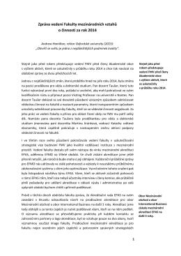 18. února 2015 - Fakulta mezinárodních vztahů