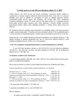 Výroční zpráva za rok 2014 - Zemědělské družstvo Netřebice